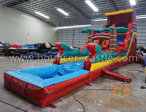 GWS-223 inflatable water slide n slip