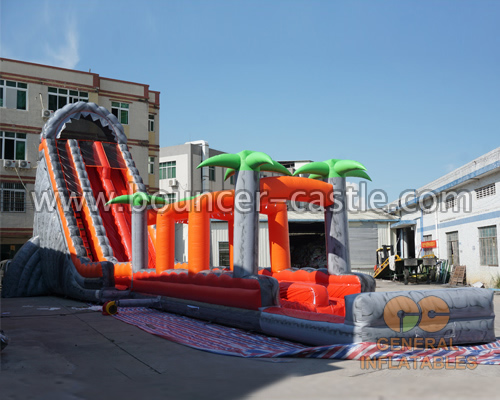 GWS-308  Jungle trees water slide n slip with pool
